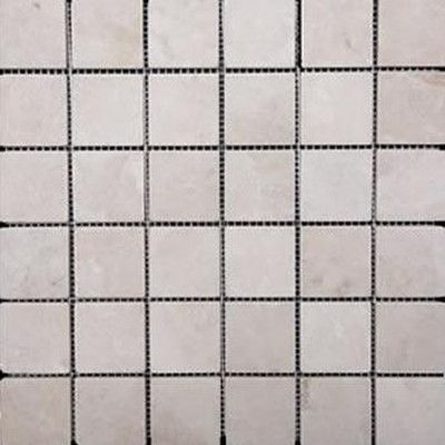 "Epoch 2"" x 2"" Travertine Mosaic Tile in Ivory"