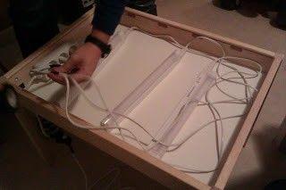 Como hacer una mesa de luz con mesa de ikea a lo - Como construir una mesa ...