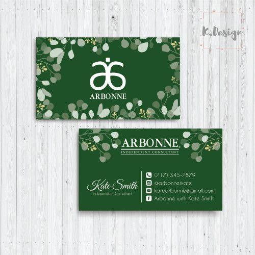 Arbonne Business Card Arbonne Greenery Business Card Arbonne Ab01 Arbonne Business Cards Arbonne Business Doterra Business Cards