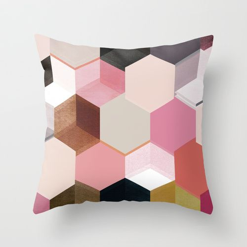colour + pattern 17 Throw Pillow by Georgiana Paraschiv | Society6