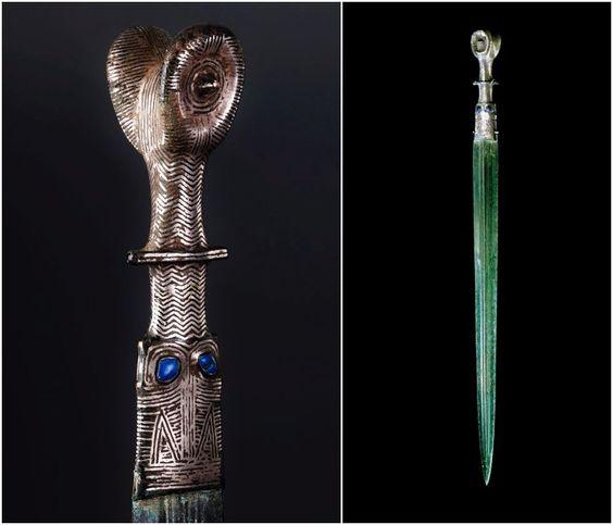 Celtic Bronze & Lapis Sword, Iberian, c. 6th-3rd Century BC