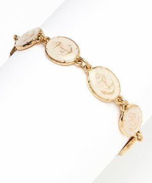 Look what I found on #zulily! Love, Kuza White Anchor Plate Link Bracelet by Love, Kuza #zulilyfinds