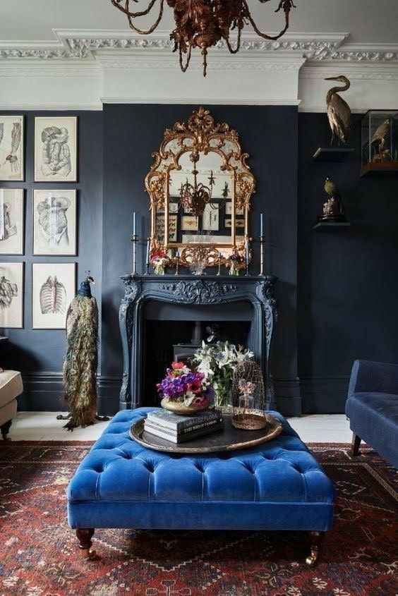 Pin By Amir Asgharzadeh On Casas Decoração Parisian Apartment Decor Blue Interior Design Victorian Rooms