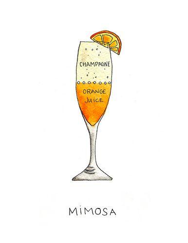 Mimosa Drink Clip Art