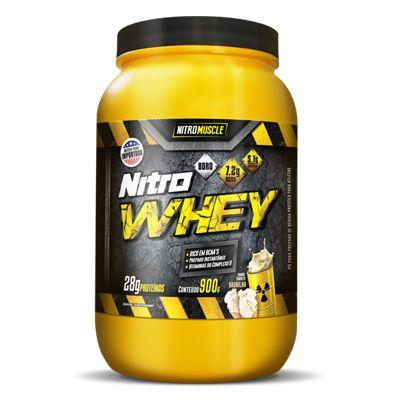 Perfeito para atender às necessidades dos músculos Nitro Whey é usada para aumentar a força e o ganho de massa muscular, além de prevenir o catabolismo muscular causado pelo treino. Nitro Whey é um alimento proteico composto por proteína isolada do soro do leite (WPI), proteína concentrada do soro de leite (Whey Protein Concentrate), e proteína hidrolizada de trigo (Glutamina peptídeos) matéria-prima elaborada com alta tecnologia e elevada concentração de aminoácidos, principalmente BCAAs.