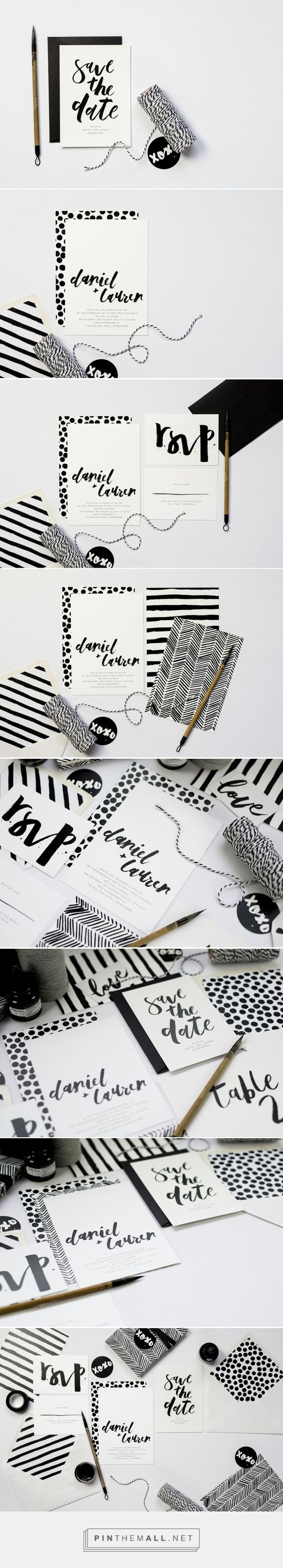 Emma Jo  |  Rowney Rowney is a playful, contemporary suite full of hand painted, monochrome patterns and custom brush lettering.
