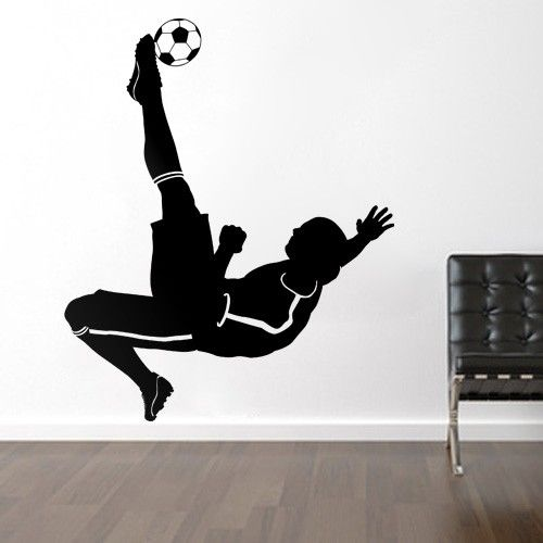 soccer football player sports wall decals stickers