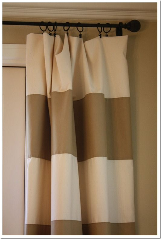 striped curtain tutorial: Curtain Colors, Colored Strips, Color Schemes, Livingroom, Striped Curtain, Bedroom, Curtain Tutorial