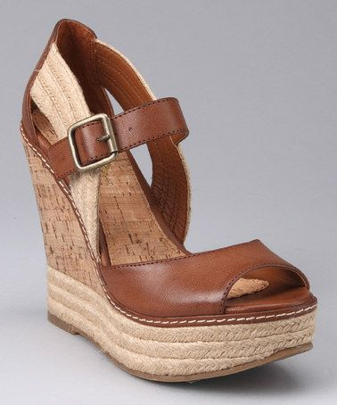 Take a look at this Luggage Rhodes Wedge Sandal by MIA Shoes on #zulily today!