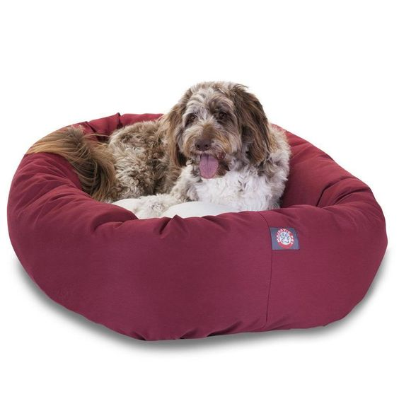 Dog Bagel Bed with Sherpa