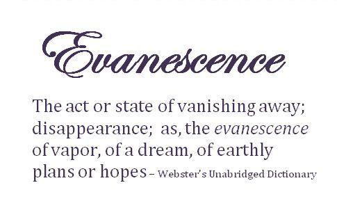 Strangewordsandtheirmeanings The Definition Of Evanescence