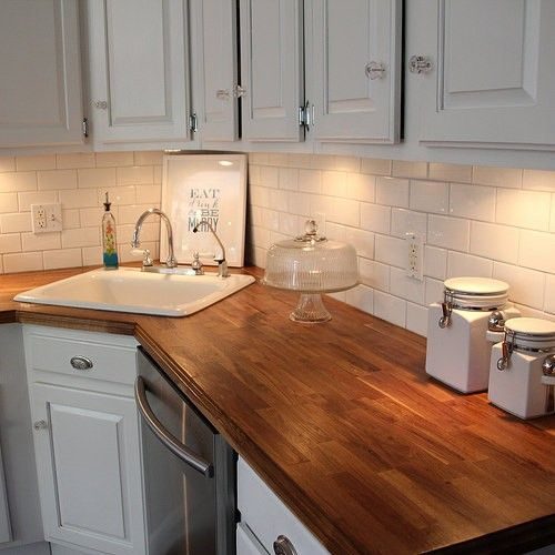 Pin By Daphne Knight On House Ikea Butcher Block Kitchen Design