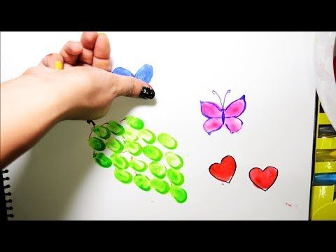 Color Grapes Heart Butterfly Thumb Art Coloring Pages And Learn Colors For Kids Youtube Coloring For Kids Flower Coloring Pages Crayola Coloring Pages