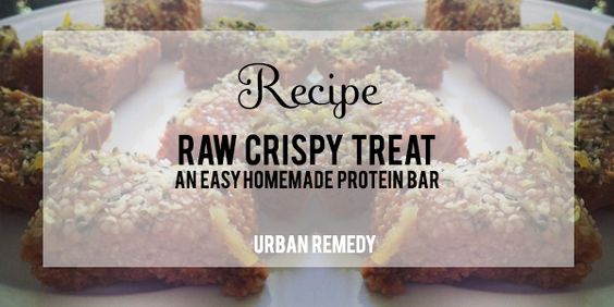 The perfect healthy breakfast! A raw, crispy, homemade protein bar recipe.