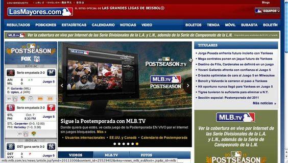 Cinco páginas para ver juegos de béisbol de las Ligas Mayores (MLB), en Internet