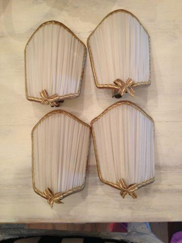 Half Shield Shades For Wall Lights : French Shield or Half Shade Lamp Shades- Cream Chiffon-set Of 4 Lighting Ideas Pinterest ...