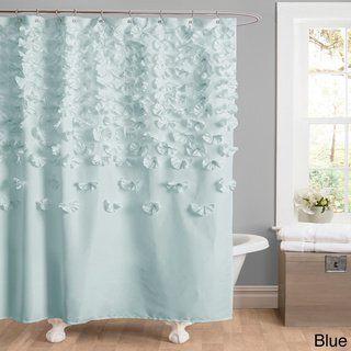 The Gray Barn Dogwood Ivory Shower Curtain Fabric Shower
