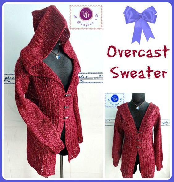 Love the hood on this crochet cardigan.