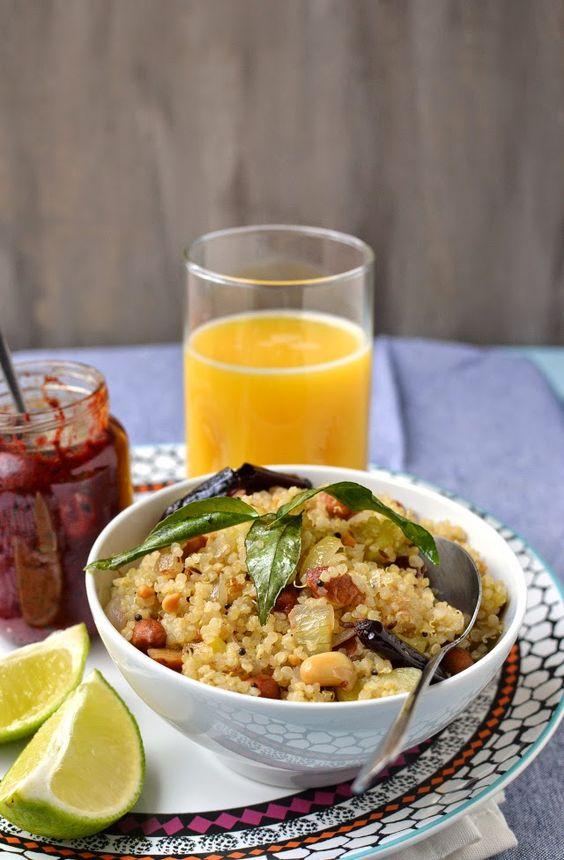 Quinoa khichdi with Peanuts (Sabudhana Khichdi Style)