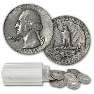 Washington Quarters Face Value 90% Silver Roll Of 40 Coins [40-WASHINGTON-QTRS]: Aydin Coins & Jewelry, Buy Gold Coins, Silver Coins, Silver Bar, Gold Bullion, Silver Bullion - Aydincoins.com