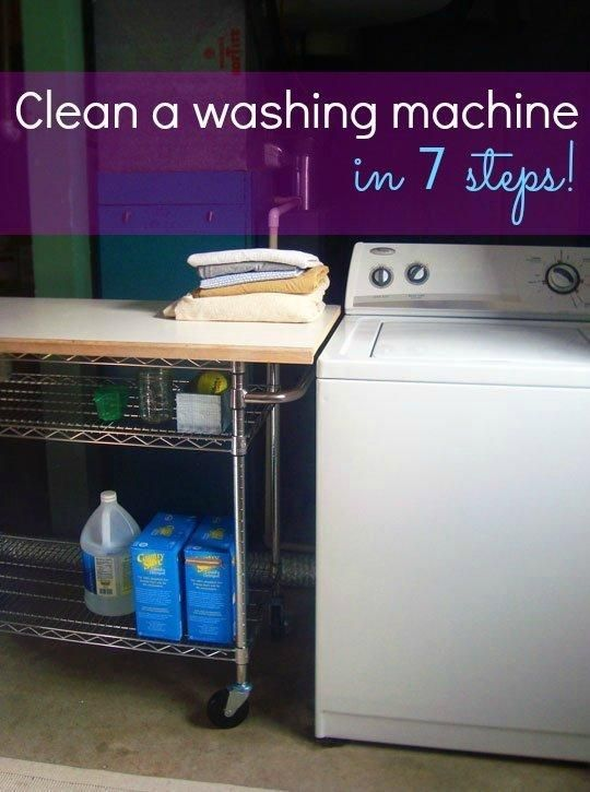 Easy steps on how to clean a washing machine -- yes they need to be cleaned sometimes, too!