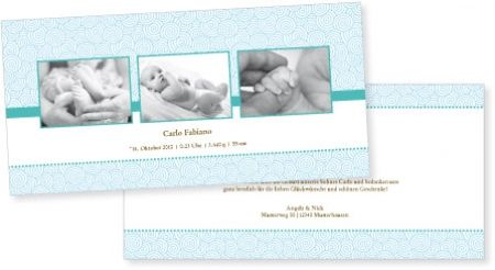 Geburtskarte | Babykarte Ella & Carlo