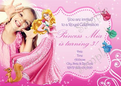 Sleeping beauty Invitation, FREE Thank you card | Shops, Birthday ...