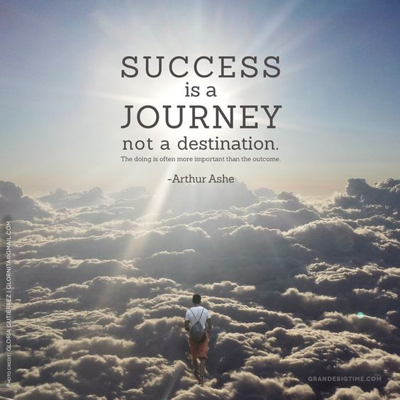 Quotes On Journey Of Success: Success Is A Journey, Not A Destination. The Doing Is