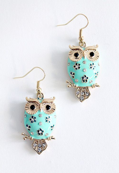 Forest Friends Owl Earrings. I <3 owls