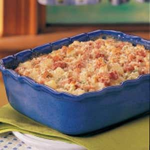 Amazing Ham Casserole  I cooked the celery & carrot with the onion & added wine & omitted bread crumbs. I used Swiss cheese in the bechemel & topped everything with shredded asiago cheese. Omg, yum!