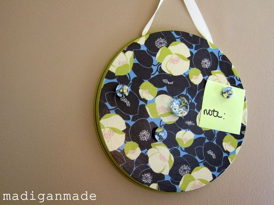 DIY Magnetic boards made from $1 store stove burner covers