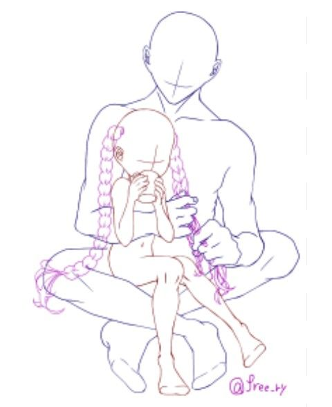 Cute Child Parent Pose Drawing Reference Poses Art Reference Drawings