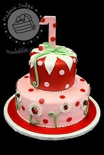 Ladybug cake... so cute with the pink and red