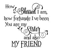 How blessed I am vinyl decal - glass block - home decor - ceramic tile - sticker - FRB14