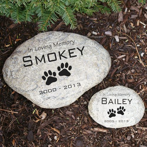 Paw print pet memorial stone pet paws stone and catalog publicscrutiny Image collections
