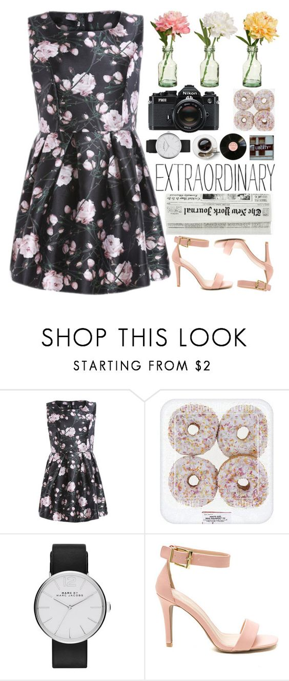 """extraordinary."" by thoughtandfashion ❤ liked on Polyvore featuring Marc by Marc Jacobs, PEONY and Nikon"