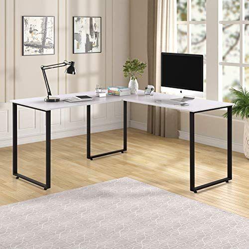Merax L Shaped Corner Desk Office Workstation Computer Desk Home Office Wood Laptop Table Study Desk Corner Workstation L Shaped Corner Desk Corner Desk