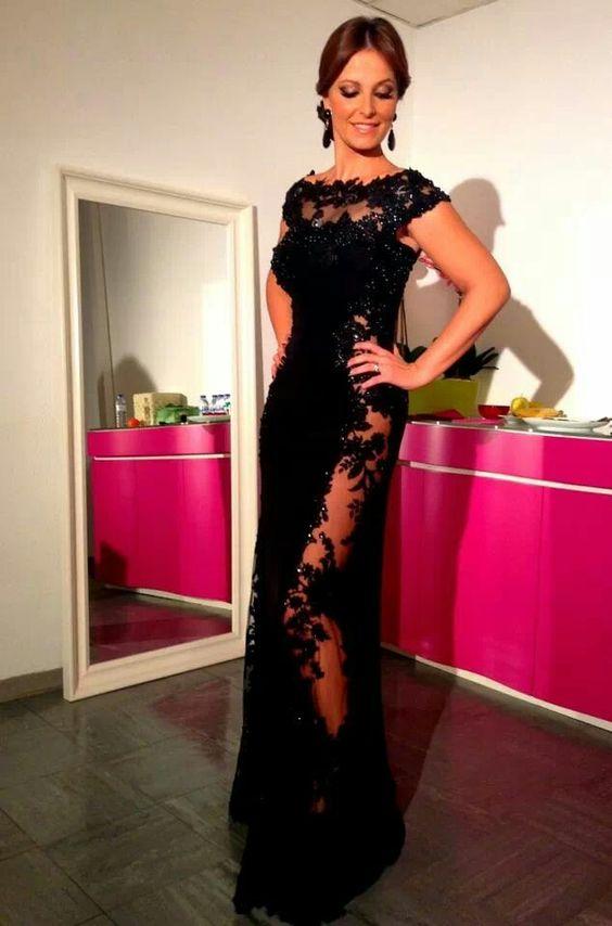 Preto, vestindo lindooo!!! Cristina Ferreira