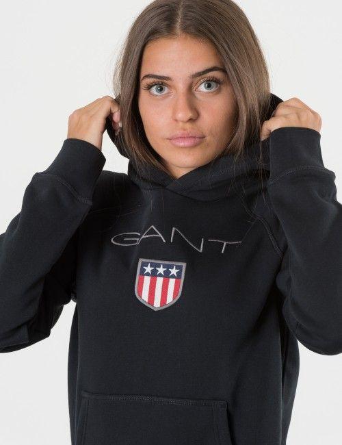 ny stil mode köper nytt Gant Oversized Gant Shield Logo Sweat Hoodie av polyester och ...