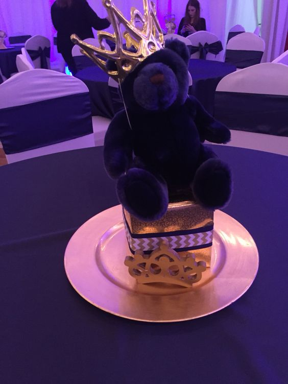 more centerpieces cute teddy bears royal prince showers baby showers