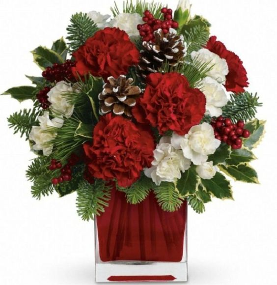 flowers.quenalbertini: Christmas arrangement | plantas.facilisimo.com/goto_974880.html: