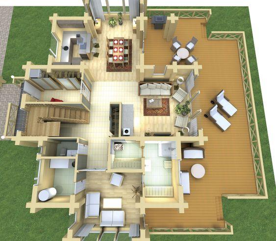 Casa prefabricada moderna de dos niveles ecol gica - Casa prefabricada moderna ...