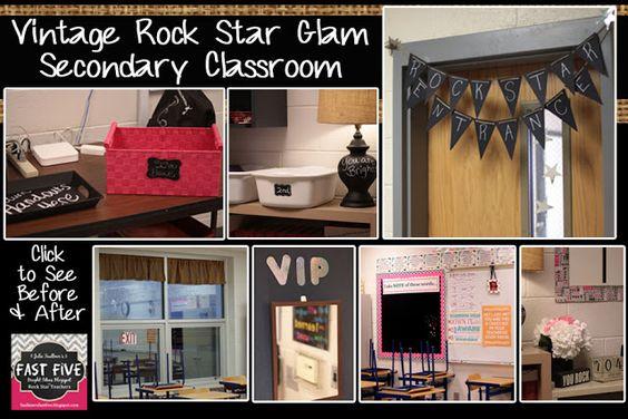 Vintage Rock Star Glam Secondary Classroom