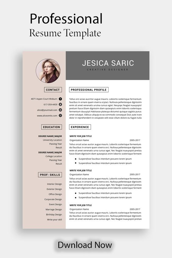 Professional Resume Template Instant Download 3 Page Resume Etsy Resume Template Professional Resume Template Word Resume Template