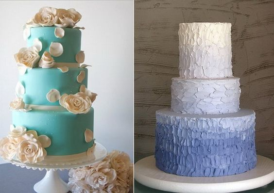 Blue-Wedding-Cake-Ideas_09 - Stylish Eve