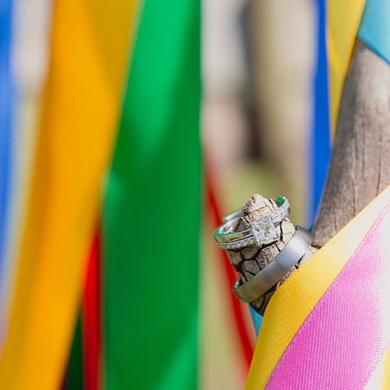 Colourful wedding ring love ❤️ #jelphotography #aucklandphotographer alternative wedding photographer