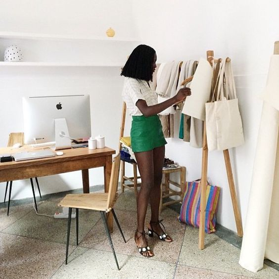 We love this lady and this workspace - Gah! ✨Rg @oroma_elewa