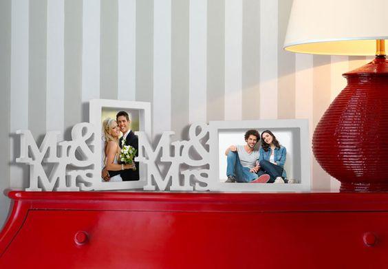 Bilderrahmen Mr&Mrs von wall-art.de