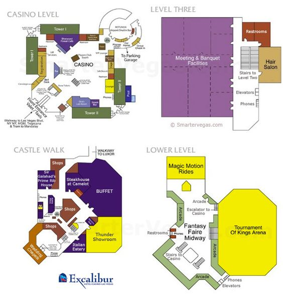 Map Of Excalibur Las Vegas Excalibur Casino Floor Map