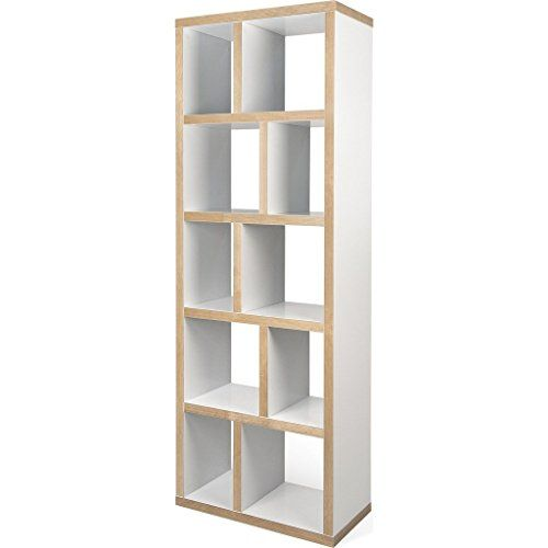 Tema Home Berlin 5 Levels Bookcase 70 Cm Pure White Plywood